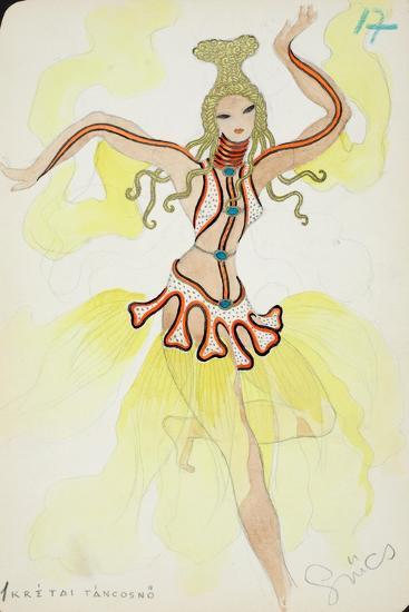 Kretai Tancosno, 1928--Giclee Print