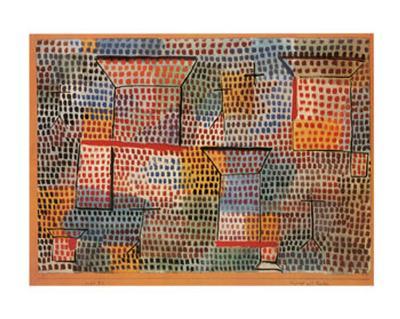Kreuze und Saulen-Paul Klee-Art Print