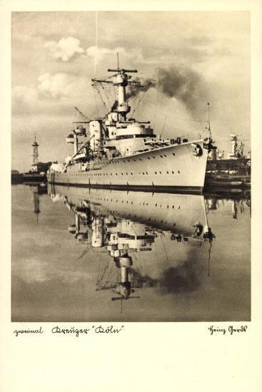 Kreuzer Köln Im Hafen Liegend--Giclee Print
