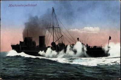 Kriegschiffe, Hochseetorpedoboot Auf See--Giclee Print