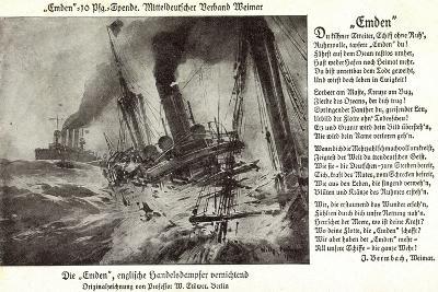 Kriegsschiff Emden Versenkt Engl. Handelsdampfer--Giclee Print