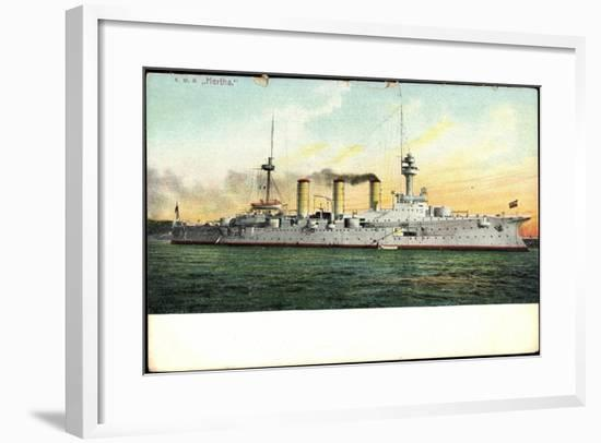 Kriegsschiff Hertha Auf See--Framed Giclee Print