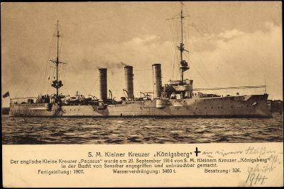 Kriegsschiff S. M. Kleiner Kreuzer Königsberg--Giclee Print