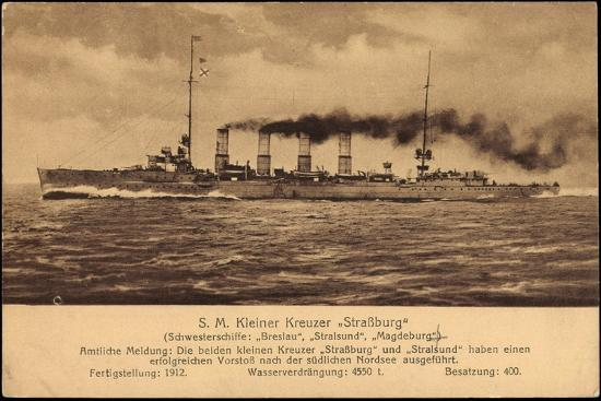 Kriegsschiff S. M. Kleiner Kreuzer Straßburg--Giclee Print