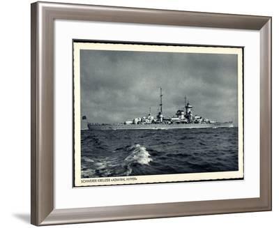 Kriegsschiff, Schwerer Kreuzer Admiral Hipper--Framed Giclee Print