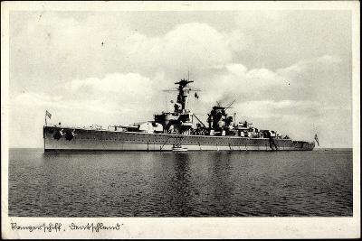 Kriegsschiffe Deutschland, Panzerschiff Deutschland--Giclee Print