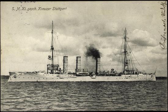 Kriegsschiffe Deutschland, S. M. Kreuzer Stuttgart--Giclee Print