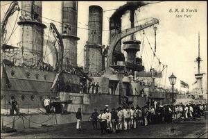Kriegsschiffe Deutschland S. M. S. Yorck Im Hafen