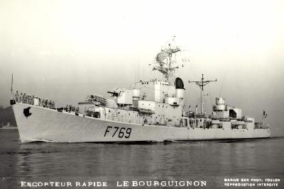 Kriegsschiffe Frankreich, Escorteur Le Bourguignon--Giclee Print