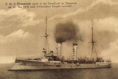 Kriegsschiffe, S.M.S. Frauenlob Auf See--Giclee Print