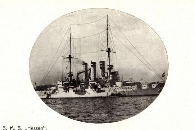 Kriegsschiffe, S.M.S. Hesssen Auf See--Giclee Print