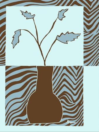 Blue & Brown Minimalist Floral II