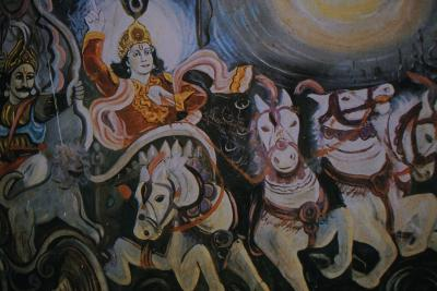 Krishna and Arjuna in the Chariot, an Episode from the Ramayana--Photographic Print