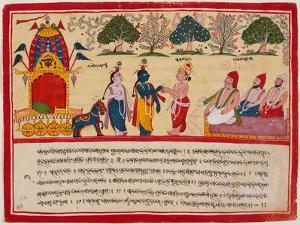 Krishna and Balarama Arrive in the Forest