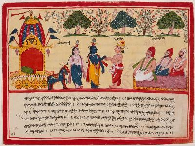 Krishna and Balarama Arrive in the Forest--Art Print