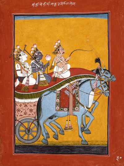 Krishna and Balarama Being Driven by Akrura to Mathura--Art Print