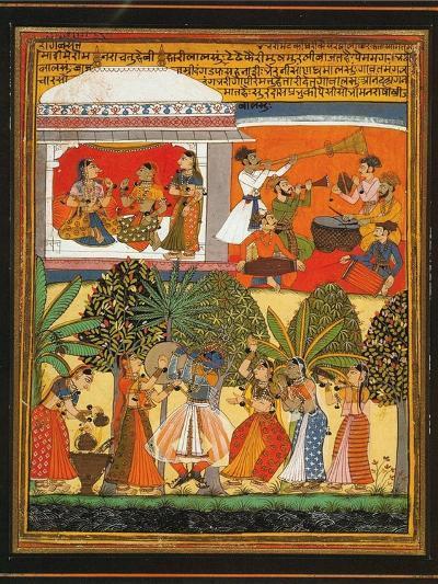 Krishna Dances with the Gopis--Art Print