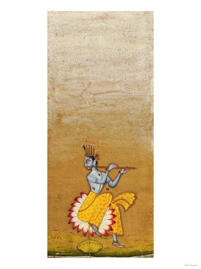 Krishna Fluting--Giclee Print
