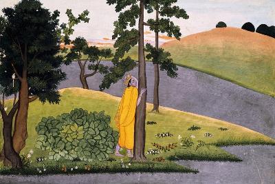 Krishna Leaning Against a Tree, Awaiting Radha, C.1780--Giclee Print