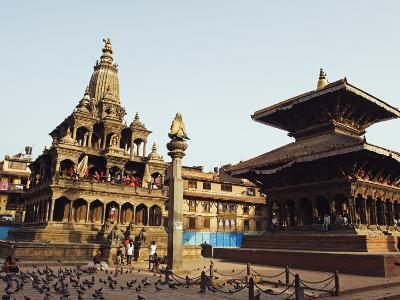Krishna Mandir, a 7th Century Hindu Temple, UNESCO World Heritage Dite, Durbar Square, Patan, Nepal-Christian Kober-Photographic Print