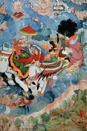 Krishna's Combat with Indra, C.1590--Giclee Print