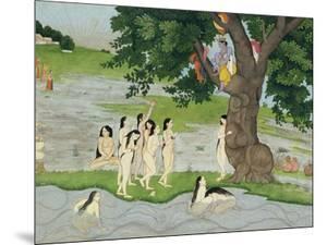 Krishna Steals the Clothes of Gopies, from the Bhagavata Purana, Kangra, Himachal Pradesh, 1780
