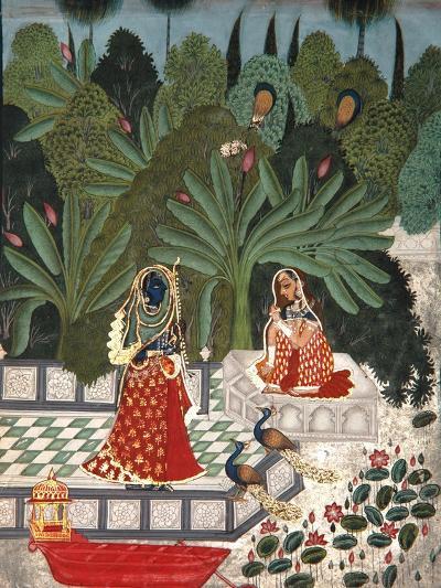 Krishna Uses a Ruse to Meet His Beloved, 1781- Bhoya-Giclee Print