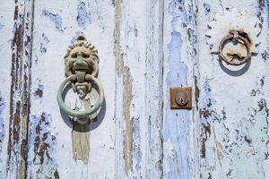 Close Up of Old Door with Door Knocker by Krista Rossow