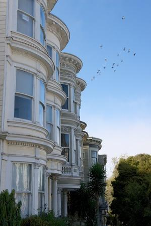 Colorful Victorian Homes in the Haight-Ashbury District of San Francisco, California