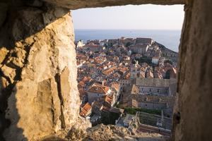 Franciscan Monastery and Rooftops by Sea in Dubrovnik, Croatia by Krista Rossow