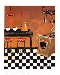 Retro Kitchen III by Krista Sewell