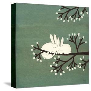 Rabbits on Marshmallow Tree by Kristiana Pärn