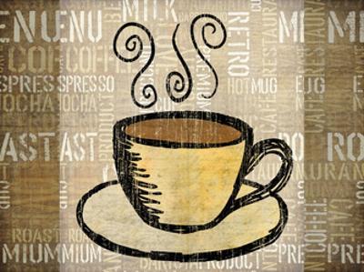 Coffee Mat 1 by Kristin Emery