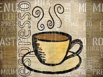 Coffee Mat 2 by Kristin Emery