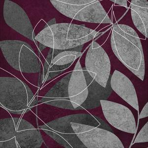 Grey Purple Leaves 2 by Kristin Emery