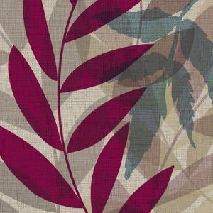 Purple Green Leaves 1 by Kristin Emery