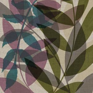 Purple Green Leaves by Kristin Emery