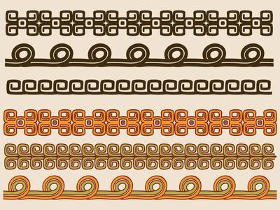 Native American Pattern Border Set
