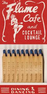 Flame Cafe Matchbook by Kristine Hegre