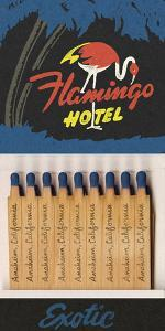 Flamingo Hotel Matchbook by Kristine Hegre