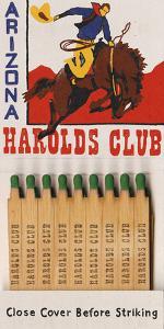 Harolds Club Matchbook by Kristine Hegre