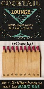Magic Bar Cocktail Lounge Matchbook by Kristine Hegre