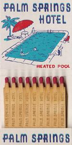 Palm Springs Hotel Matchbook by Kristine Hegre