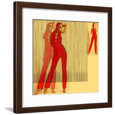 Kristine in Red-NaxArt-Framed Premium Giclee Print
