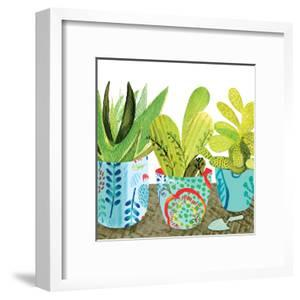 Floral Cacti Pots 1 by Kristine Lombardi