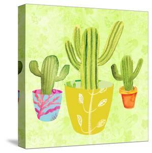 Floral Cacti Pots 2 by kristine lombardi