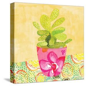 Floral Cacti Pots 3 by Kristine Lombardi