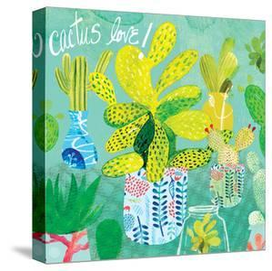 Floral Cacti Pots 4 by Kristine Lombardi