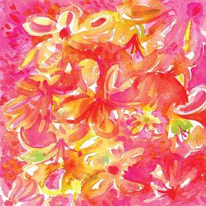 Pink Watercolor Floral by Kristine Lombardi