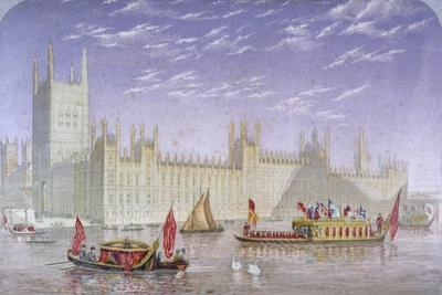 The Palace of Westminster, London, C1850